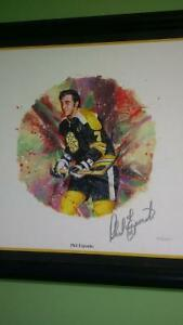 Phil Esposito hand signed Lithograph