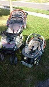 stroller with click carrier/car seat 2010 baby trend model Peterborough Peterborough Area image 1