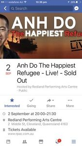WANTED 2 Tickets Anh Do at RPAC Wakerley Brisbane South East Preview