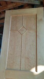Two beautiful 2x8 solid wooden doors with birds eye maple. Prince George British Columbia image 3