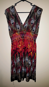 Red peacock dress Goodna Ipswich City Preview