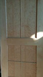 Two beautiful 2x8 solid wooden doors with birds eye maple. Prince George British Columbia image 4