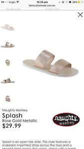Rose gold slide/sandals Baldivis Rockingham Area Preview