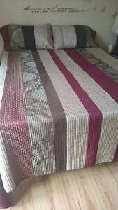 Two Queen size quilt with 2 pillow cases Gatineau Ottawa / Gatineau Area image 1