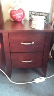 chocolate brown bedside table