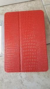 New RED Folio Crocodile Stand PU Leather Smart Case iPad Mini