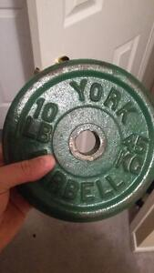 50+lbs of barbells and small T-bar