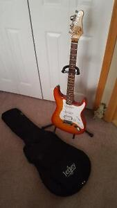 Electric Guitar, case & stand