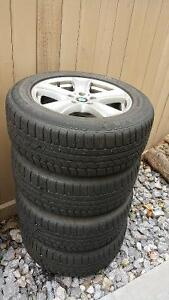 Runflat winter tire and rim set for BMW X5