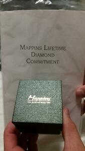 Stunning Mappins Promise Ring with Warranty