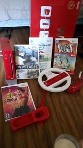 make a offer red wii with games