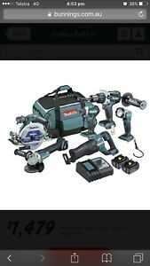 Makita 6 Piece 18V  Brushless Cordless Combo Castlereagh Penrith Area Preview
