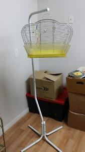 1970 's  BIRD CAGE AND STAND NEW PRICE Belleville Belleville Area image 1