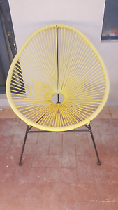 Yellow Acapulco Style Chairs x 2 Balga Stirling Area Preview
