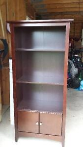 Cherry finish bookcase