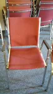 Cloth Stacking Chairs with Metal Frames - Qty 50 - price reduced Cambridge Kitchener Area image 3