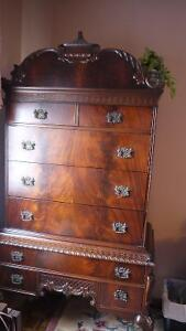 Magnificent 9 Piece Chippendale Bedroom Set