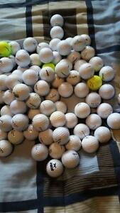 100 used golf balls of various companies in A/B grade