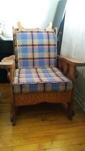 single wooden recliner chair for sale