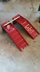 red hd steel ramps for car or truck
