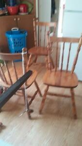 4 MAPLE STURDY KITCHEN CHAIRS