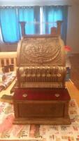 Antique national cash register from the 1800s