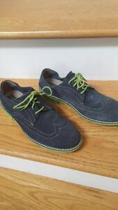 beautiful blue suede shoes