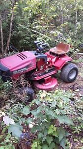 Lawn tractor an two trimers