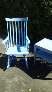 Antique Rocking Chair and Utility End Table