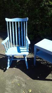 Antique Rocking Chair and Utility End Table West Island Greater Montréal image 1