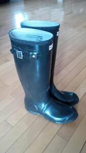 Bottes noires glossy Hunter West Island Greater Montréal image 1