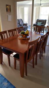 Timber dining table  and Chairs Mount Annan Camden Area Preview