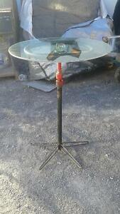 "custom 1 of a kind bistro table (24"" glass top) also have chair Belleville Belleville Area image 2"