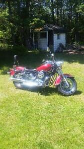 03 kawasaki vulcan. Lots of chrome and options