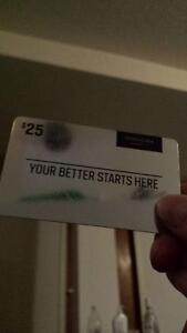25$ Sport Chek Gift card (with balance)