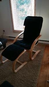 Ikea chair with foot rest. SOLD !!!