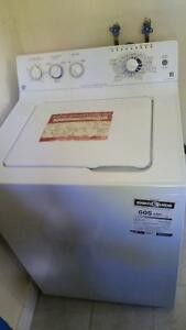 Washer and dryer white