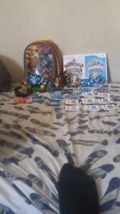 Skylanders w/ 2 games and a bag with the cards Peterborough Peterborough Area image 1