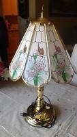 Beautiful glass lamp with roses