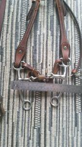 Dark Leather Headstall with silver, and bit Strathcona County Edmonton Area image 2