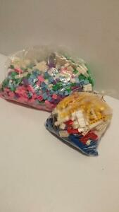LEGO AND MEGABLOKS FOR SALE! Two Big Bags With Assorted Pieces!