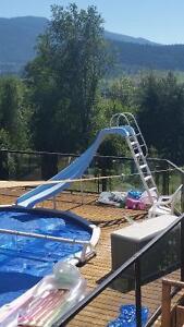 Curved pool or dock slide