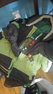 Winter snowsuits, hats and gloves for boys