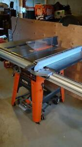 """Ridgid 10"""" Cast Iron table saw excellent condition. Model TS3650"""
