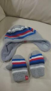 Winter tuque and mitts set baby/toddler