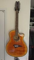 12-string Dean Exotic Flame Maple acoustic electric