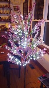 Wedding Pink floral lighted tree