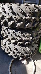 "4 27"" swamp lite tires; 2 10"" and 2 12"""