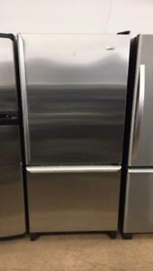 ECONOPLUS OTTAWA SUPER SPECIAL STAINLESS AMANA BOTTOM FREEZER  FRIDGE 649 $  TX INCLUDED
