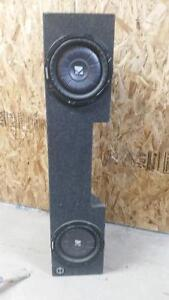 2 10'' kicker cvt subs. shallow mount in truck box